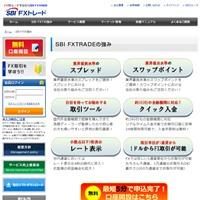 SBI FXトレードの公式サイトから。